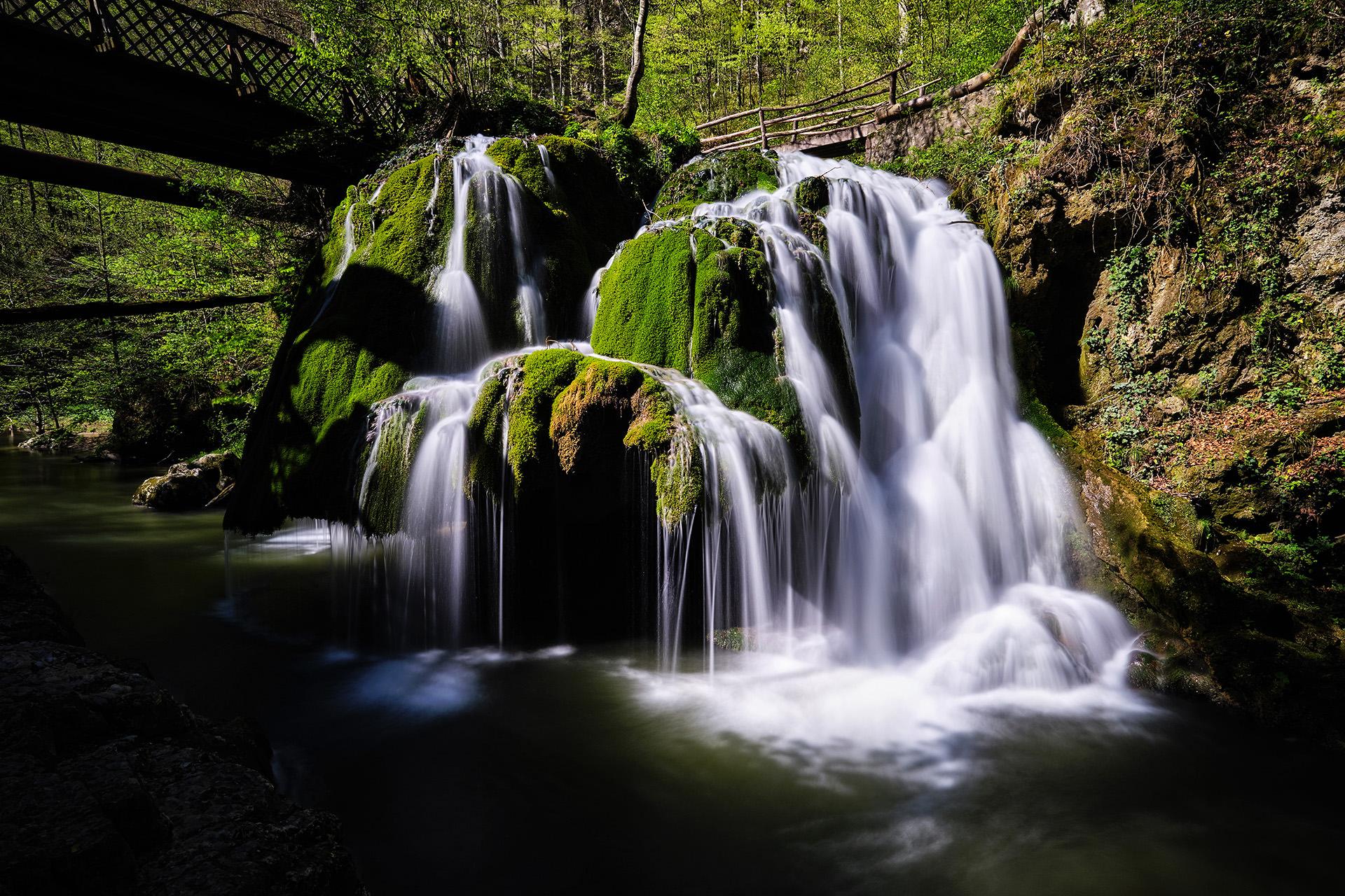 Bigar Waterfall in Romania 01