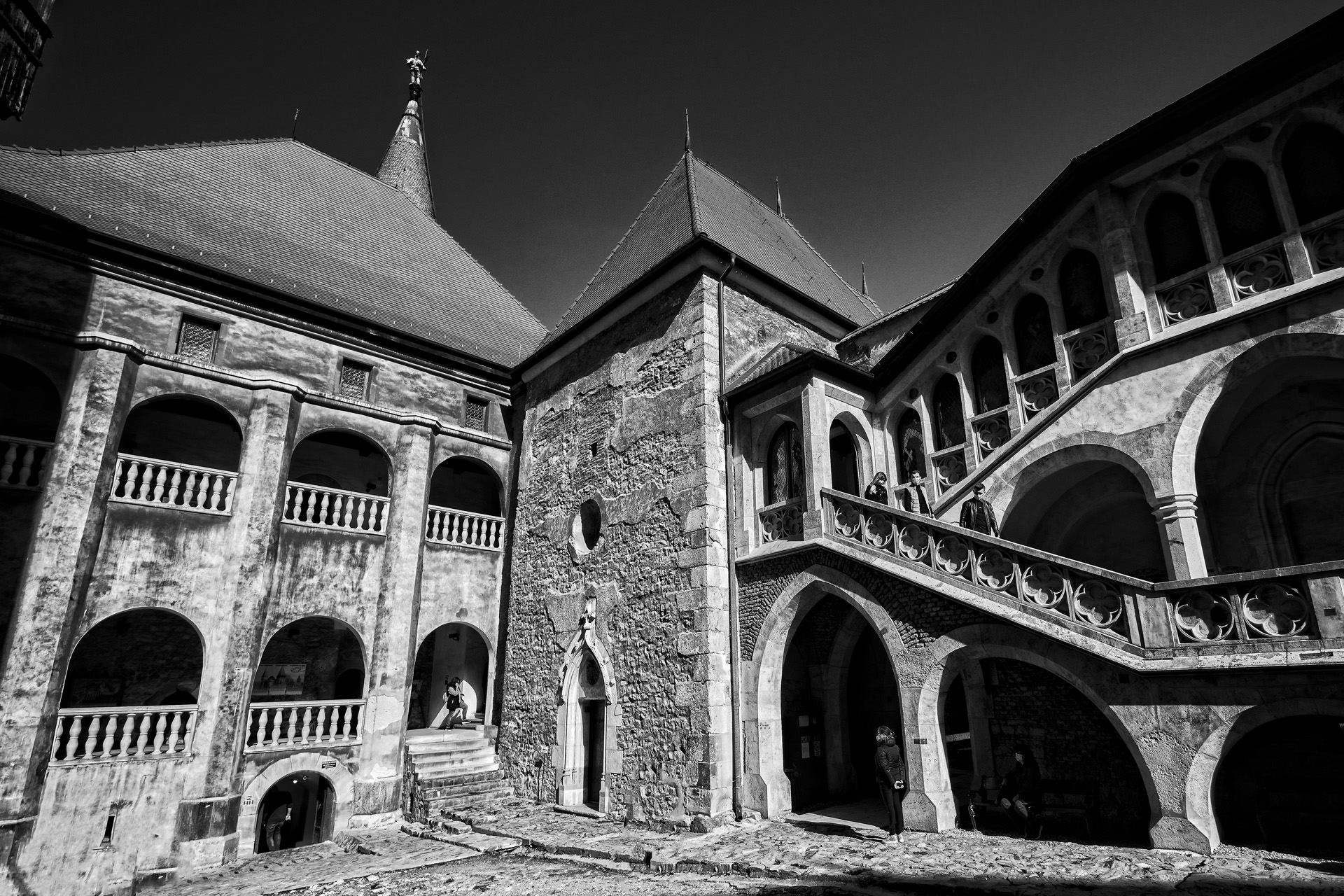 Castle of Hunedoara in Romania