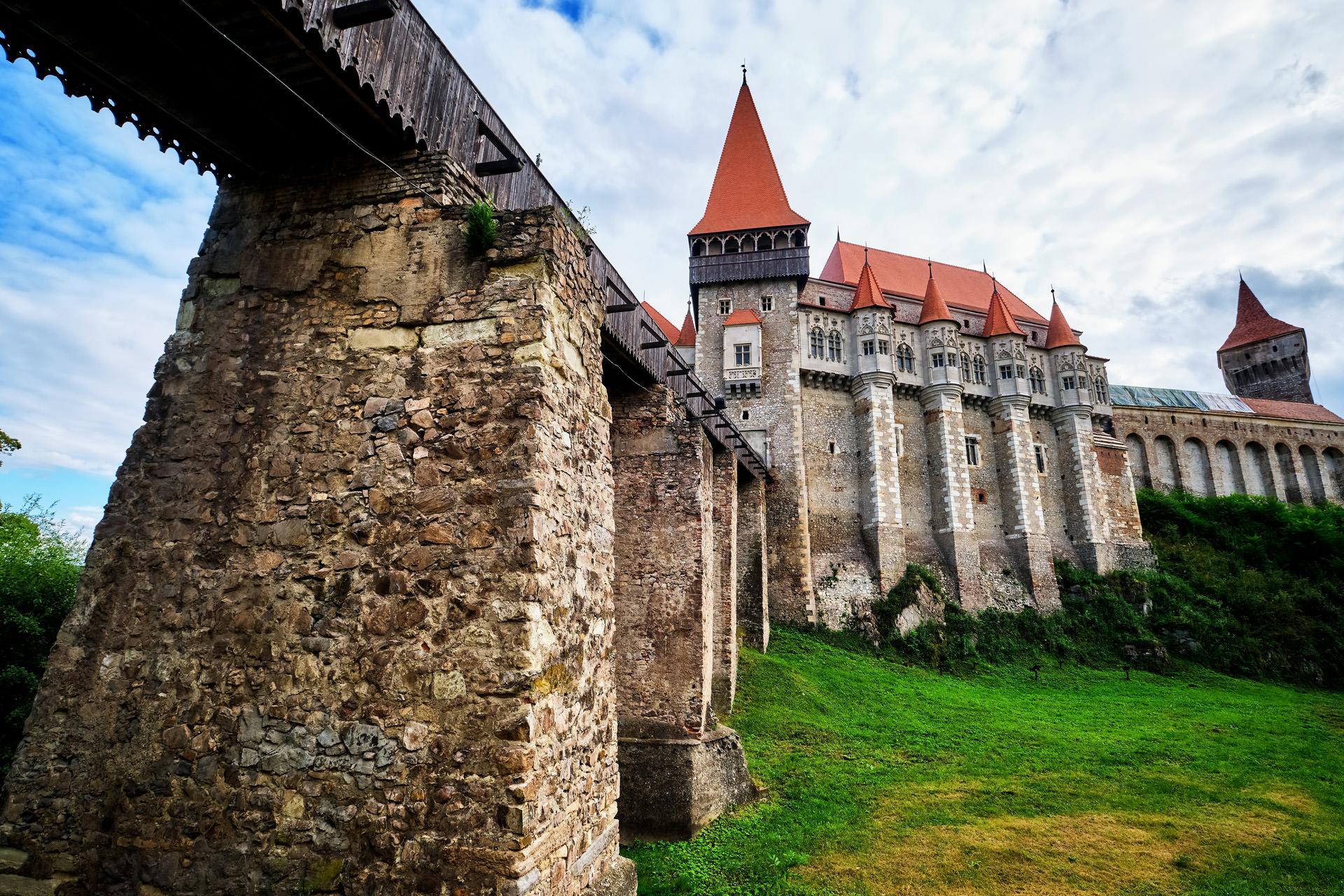 Corvins Castle in Romania