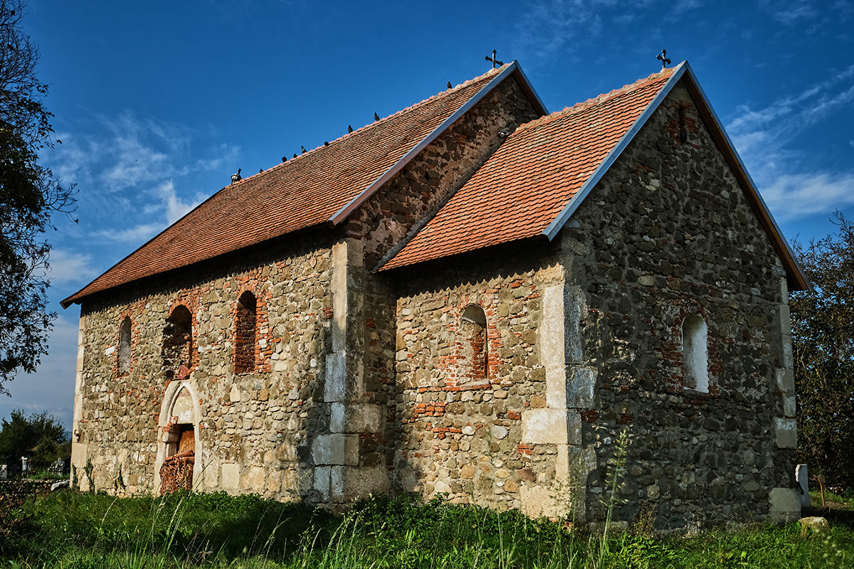 Stone Church of Sanpetru Hateg Land Romania