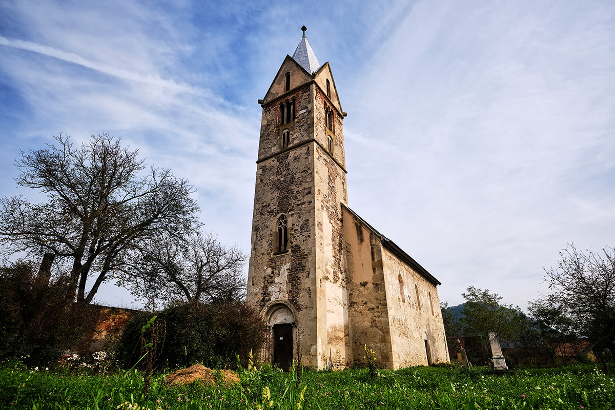 Stone Church of Santamarie Orlea Hateg Country Romania